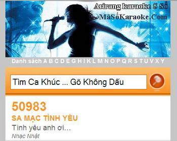 Mã số karaoke 6 so , danh sách ma so bai hat karaoke 6 so